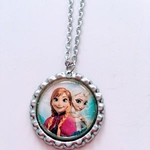 Frozen sisters Elsa and Anna necklace